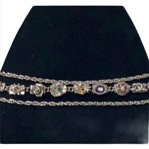 JUDY LEE •Charm bracelet- double chain with charm